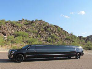 Cadillac limousine in Phoenix, AZ - exterior