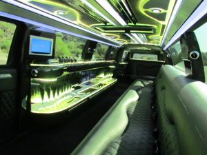 Cadillac limousine in Phoenix, AZ - interior