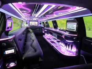 Cadillac limousine in Phoenix, AZ - interior 1