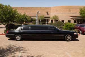 Passenger side of our stretch limo