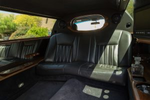Foremost passenger seats of our stretch limo