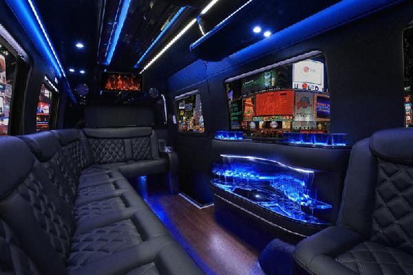 Mercedes Sprinter party bus in Phoenix - interior
