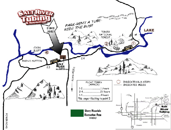 Salt River Float Map