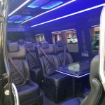 Inside of Phoenix Sprinter executive transportation and party bus 2