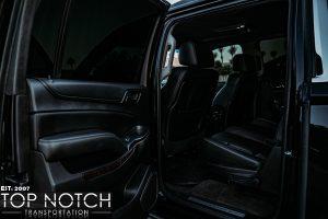 Phoenix black Car Service - Chevy SUV interior rear