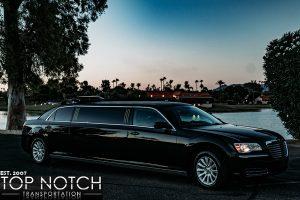 Black Stretch Limousine in Phoenix - side