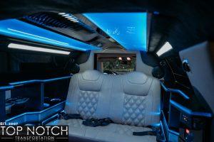 Black Stretch Limousine Phoenix - interior rear