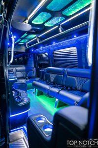 limousine phoenix sprinter 2 interior 2 logo
