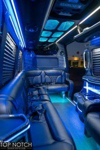 Phoenix Party Bus interior rear