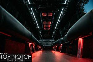white party bus interior back 3 logo