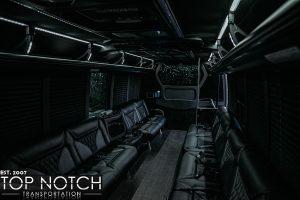 white party bus interior back 5 logo