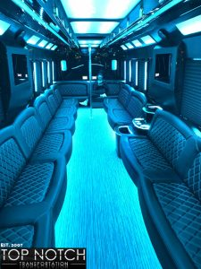 2019 Party Bus Phoenix and Scottsdale interior - 34 passenger