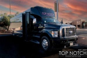Top Notch Transportation Phoenix Limousine Service 2020 Party Bus front