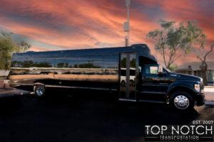 Top Notch Transportation Phoenix Limousine Service 2020 Party Bus side