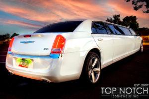 Top Notch Transportation Phoenix Limousine Service Chrysler 300 Wedding Limo rear